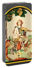 Portable Battery Charger featuring the mixed media Orpheus by Asok Mukhopadhyay