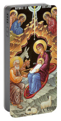 Orthodox Nativity Scene Portable Battery Charger by Munir Alawi