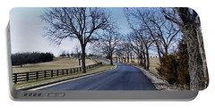 Portable Battery Charger featuring the photograph Osage County Road by Cricket Hackmann