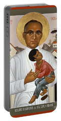 St. Oscar Romero Of El Salvado - Rlosr Portable Battery Charger