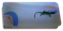 Portable Battery Charger featuring the photograph Oscar The Lizard by Denise Fulmer