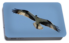 Portable Battery Charger featuring the photograph Osprey In Flight by Robert Banach