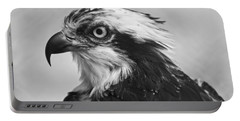 Osprey Monochrome Portrait Portable Battery Charger by Chris Flees