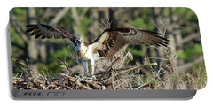 Osprey Nest Against Loblolly Portable Battery Charger