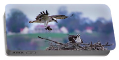 Osprey Nest Building Portable Battery Charger