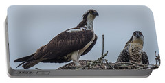 Osprey On A Nest Portable Battery Charger by Paul Freidlund