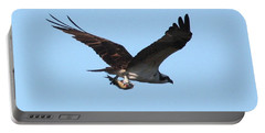 Osprey With Fish Portable Battery Charger by Carol Groenen