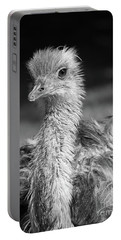 Ostrich Black And White Portable Battery Charger