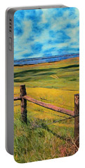 Other Side Of The Fence Portable Battery Charger by Jeff Kolker