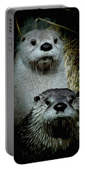 Otter Family Portrait Portable Battery Charger