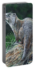 Otter On Branch Portable Battery Charger