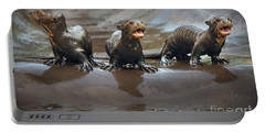 Otter Pup Triplets Portable Battery Charger