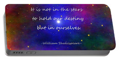 Our Destiny - Shakespeare Portable Battery Charger