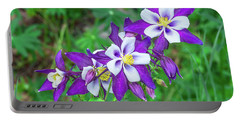 Our Gorgeous State Flower, Colorado Columbine  Portable Battery Charger