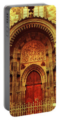 Portable Battery Charger featuring the photograph Our Lady Before Tyn 1. Architecture. Series Golden Prague by Jenny Rainbow