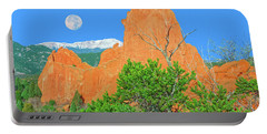 Our Majestic, Opalescent Colorado, Like No Other Place On Earth Portable Battery Charger by Bijan Pirnia