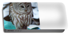 Portable Battery Charger featuring the photograph Our Own Owl by Betty Pieper