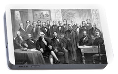 Our Presidents 1789-1881 Portable Battery Charger by War Is Hell Store