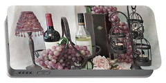 Portable Battery Charger featuring the photograph Our Wine Cellar by Sherry Hallemeier