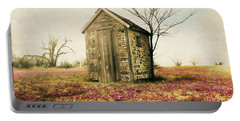 Portable Battery Charger featuring the photograph Outhouse by Julie Hamilton