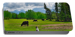 Out In The Pasture Portable Battery Charger