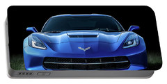 Blue 2013 Corvette Portable Battery Charger