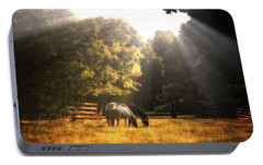 Portable Battery Charger featuring the photograph Out To Pasture by Mark Fuller