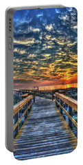 Portable Battery Charger featuring the photograph Out To Sea Tybee Island Georgia Art by Reid Callaway