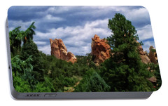 Portable Battery Charger featuring the digital art outcroppings in Colorado Springs by Chris Flees