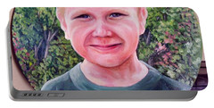 Outdoors Boy Portable Battery Charger by Ruanna Sion Shadd a'Dann'l Yoder