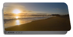 Portable Battery Charger featuring the photograph Outer Banks Pier Sunrise by Barbara Ann Bell