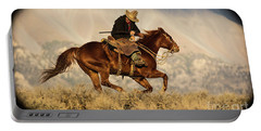 Outlaw Kelly Western Art By Kaylyn Franks Portable Battery Charger
