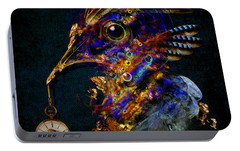 Portable Battery Charger featuring the painting Outside Of Time by Alexa Szlavics