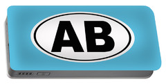Portable Battery Charger featuring the photograph Oval Ab Atlantic Beach Florida Home Pride by Keith Webber Jr