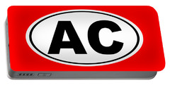 Portable Battery Charger featuring the photograph Oval Ac Atlantic City New Jersey Home Pride by Keith Webber Jr