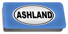 Portable Battery Charger featuring the photograph Oval Ashland Oregon Or Ohio Home Pride by Keith Webber Jr