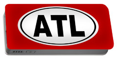 Portable Battery Charger featuring the photograph Oval Atl Atlanta Georgia Home Pride by Keith Webber Jr
