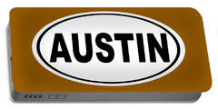 Portable Battery Charger featuring the photograph Oval Austin Texas Home Pride by Keith Webber Jr