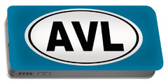 Portable Battery Charger featuring the photograph Oval Avl Asheville North Carolina Home Pride by Keith Webber Jr