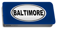 Portable Battery Charger featuring the photograph Oval Baltimore Maryland Home Pride by Keith Webber Jr