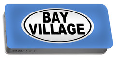 Portable Battery Charger featuring the photograph Oval Bay Village Ohio Home Pride by Keith Webber Jr