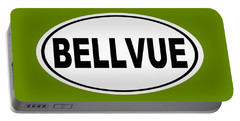 Portable Battery Charger featuring the photograph Oval Bellvue Colorado Home Pride by Keith Webber Jr
