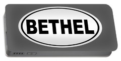 Portable Battery Charger featuring the photograph Oval Bethel Connecticut Home Prid by Keith Webber Jr