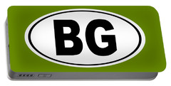 Portable Battery Charger featuring the photograph Oval Bg Bowling Green Kentucky Home Pride by Keith Webber Jr