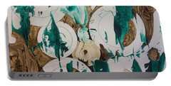 Portable Battery Charger featuring the painting Over And Under by Pat Purdy