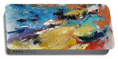 Portable Battery Charger featuring the painting Over The Hills And Far Away by Elise Palmigiani