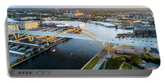 Portable Battery Charger featuring the photograph Over The Hoan by Randy Scherkenbach
