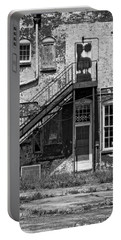 Portable Battery Charger featuring the photograph Over Under The Stairs - Bw by Christopher Holmes