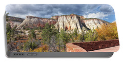 Portable Battery Charger featuring the photograph Overlook In Zion National Park Upper Plateau by John M Bailey