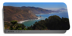 Overlooking Marin Headlands Portable Battery Charger by Michiale Schneider